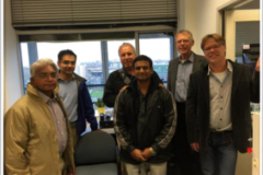 Visit to Meluna Research, The Netherlands in Nov 2014. (L to R: Dr. Prabhakar Rao, Dr. Sriram Srinivasan, Dr. David Cornsweet, Dr. Hanumanth, Dr. Roeland van Wijk, Dr. Eduard van Wijk)