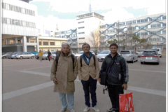 Visit to Tohoku Institute of Technology, Sendai, Japan in Dec 2014. (L to R: Dr. Prabhakar Rao, Dr. Ankush Prasad and Dr. Hanumanth)